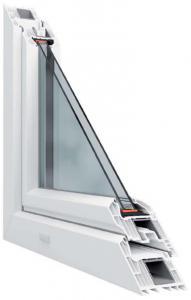 7 légkamrás műanyag ablakmetszet